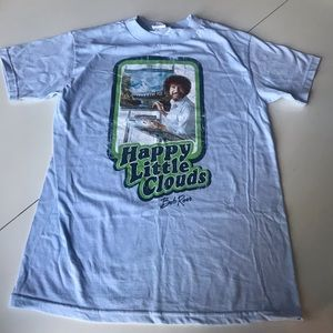 Bob Ross T-shirt - Happy Clouds